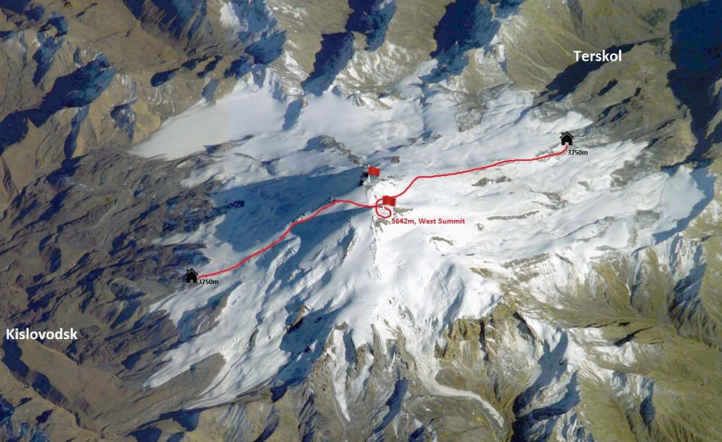 Mount Elbrus traverse